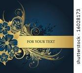 golden frame for text | Shutterstock .eps vector #16028173