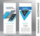 roll up business brochure flyer ... | Shutterstock .eps vector #1602844465