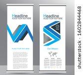 roll up business brochure flyer ... | Shutterstock .eps vector #1602844468