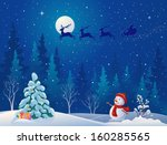 vector illustration of santa... | Shutterstock .eps vector #160285565