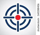 symbol of crosshair in... | Shutterstock .eps vector #160288406