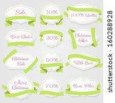 set of labels with ribbons | Shutterstock .eps vector #160288928