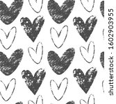 romantic seamless pattern with... | Shutterstock .eps vector #1602903955