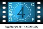 vector film countdown. number 4 ... | Shutterstock .eps vector #16029085