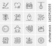 16 universal business icons... | Shutterstock .eps vector #1602915055