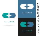 capsule plus vector logo... | Shutterstock .eps vector #1602923425