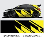 rally car decal graphic wrap... | Shutterstock .eps vector #1602928918