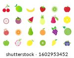 fruits collection set ... | Shutterstock .eps vector #1602953452