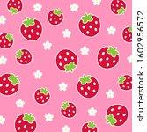 fruit pattern.cute fresh... | Shutterstock .eps vector #1602956572