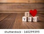 Love Message Written In Wooden...