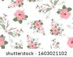 vector seamless floral pattern... | Shutterstock .eps vector #1603021102