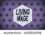 word writing text living wage.... | Shutterstock . vector #1603026598