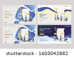 collection of employees... | Shutterstock .eps vector #1603042882
