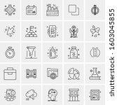 set of 25 universal business...   Shutterstock .eps vector #1603045855