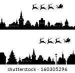 vector illustration of santa's... | Shutterstock .eps vector #160305296