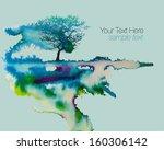 vector watercolor background... | Shutterstock .eps vector #160306142