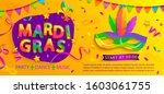 mardi gras banner with... | Shutterstock .eps vector #1603061755