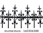 Part Of A Wrought Iron Fence On ...