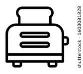 toaster icon  toaster vector... | Shutterstock .eps vector #1603081828