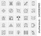 set of 25 universal business... | Shutterstock .eps vector #1603083985