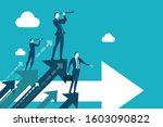businessman looking to the... | Shutterstock .eps vector #1603090822