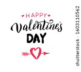 happy valentine's day... | Shutterstock .eps vector #1603110562