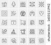 set of 25 universal business... | Shutterstock .eps vector #1603111942