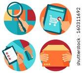 vector internet shopping icons... | Shutterstock .eps vector #160311692