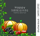 happy thanksgiving day... | Shutterstock .eps vector #160311932