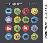 flat icons for technology....