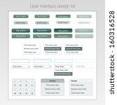 user interface design kit.... | Shutterstock .eps vector #160316528