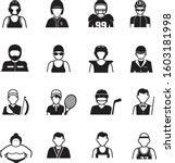 sport people icons on white...   Shutterstock .eps vector #1603181998