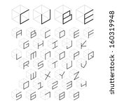 3d cube alphabet and number ... | Shutterstock .eps vector #160319948