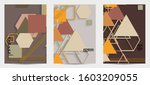 abstract retro colored mid... | Shutterstock .eps vector #1603209055