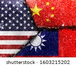 Trade War. Flag Of The People\'...