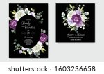 elegant wedding invitation card ...   Shutterstock .eps vector #1603236658