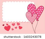 pointed hearts balloons and...   Shutterstock .eps vector #1603243078
