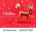 merry christmas   happy new... | Shutterstock . vector #1603257385