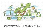 green business and sustainable... | Shutterstock .eps vector #1603297162