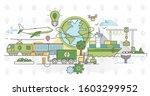 green logistics vector... | Shutterstock .eps vector #1603299952