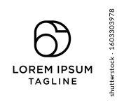 initial letter logo 6D, D6 logo template