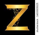gold letter z logo baroque style | Shutterstock .eps vector #1603305025