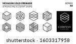 black and white monogram... | Shutterstock .eps vector #1603317958