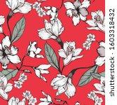 beautiful seamless floral... | Shutterstock .eps vector #1603318432