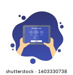 car rent mobile app  tablet in...