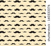 mustache vector seamless pattern