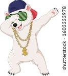 cute polar bear dabbing dance... | Shutterstock .eps vector #1603333978