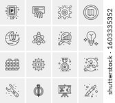 16 universal business icons... | Shutterstock .eps vector #1603335352