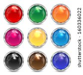 set multicolored glass buttons... | Shutterstock .eps vector #160336022