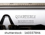 quarterly results  | Shutterstock . vector #160337846